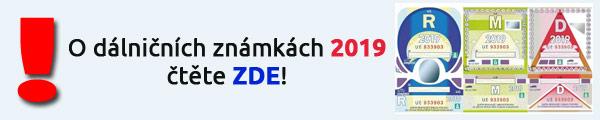Dálniční známky 2019 ČR