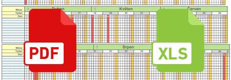 Unikátní pracovní plánovací kalendář 2020 v PDF i XLS