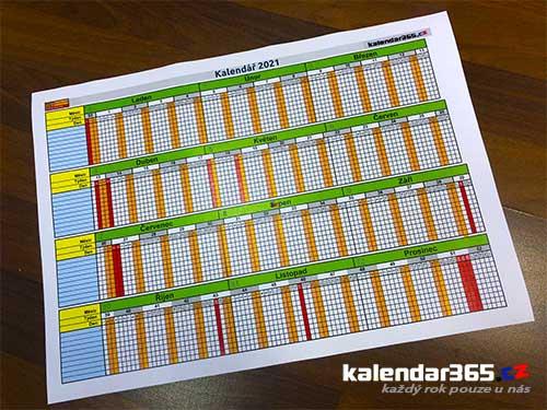 Náš unikátní pracovní plánovací kalendář 2021 v PDF i XLS
